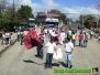 Llegada al Polideportivo de La Cruz en la marcha de la Caravana de Paz