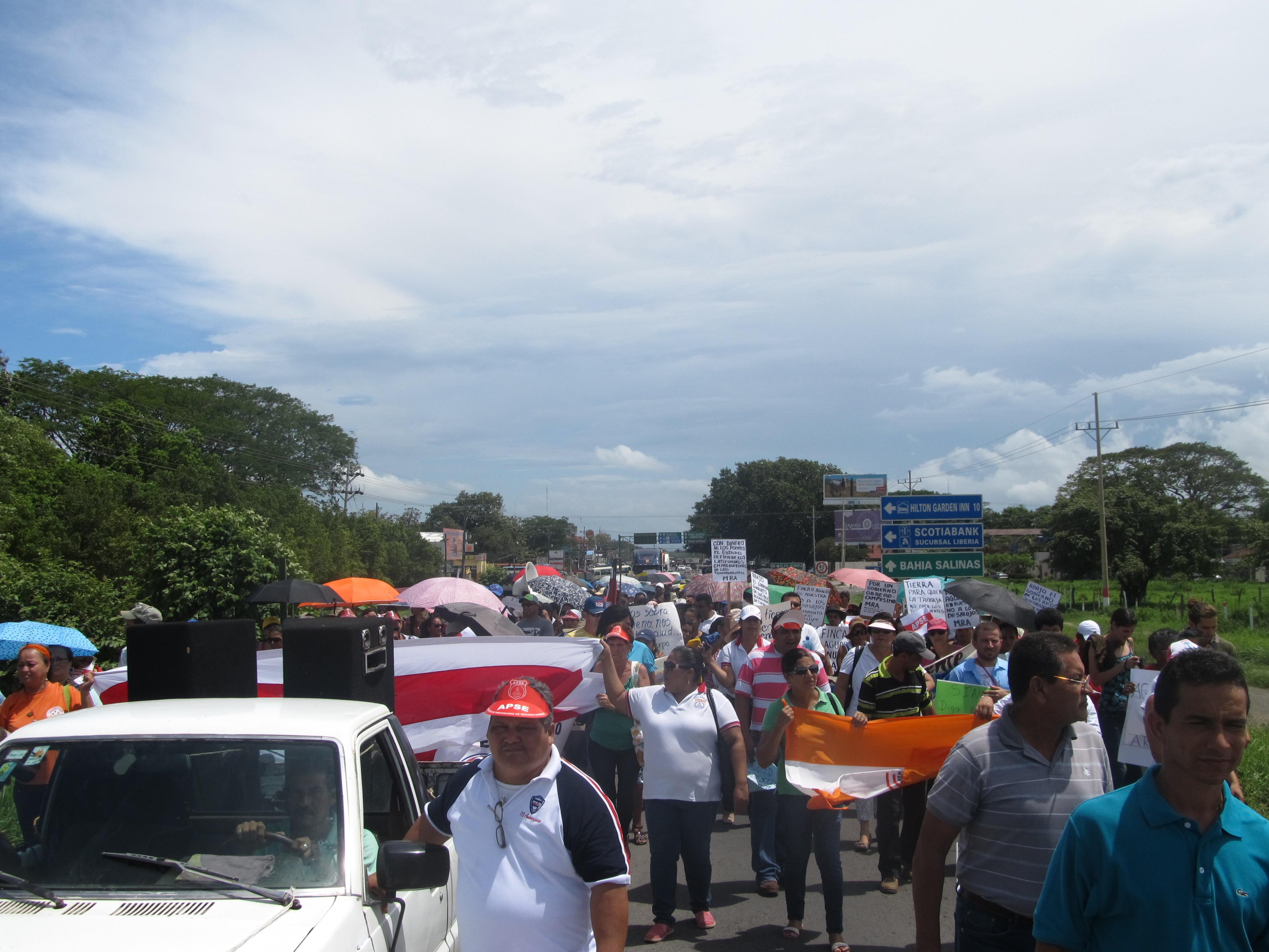 Marcha Nacional se desarrolló en la pampa guanacasteca