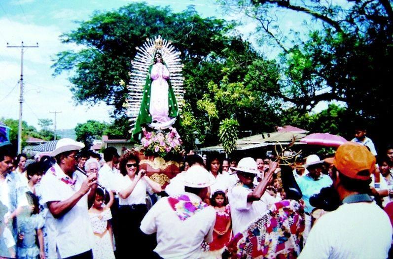 Vírgen de Guadalupe en Nicoya.