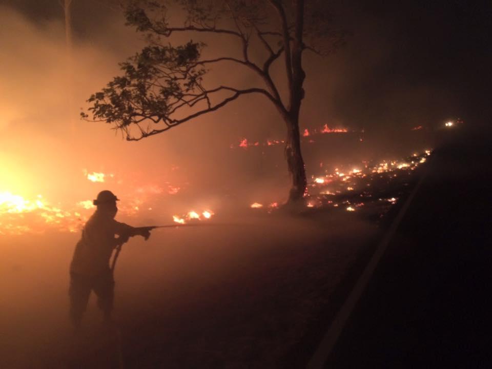 Incendio que afectó el sector de Cuajiniquil en La Cruz el 21 de febrero