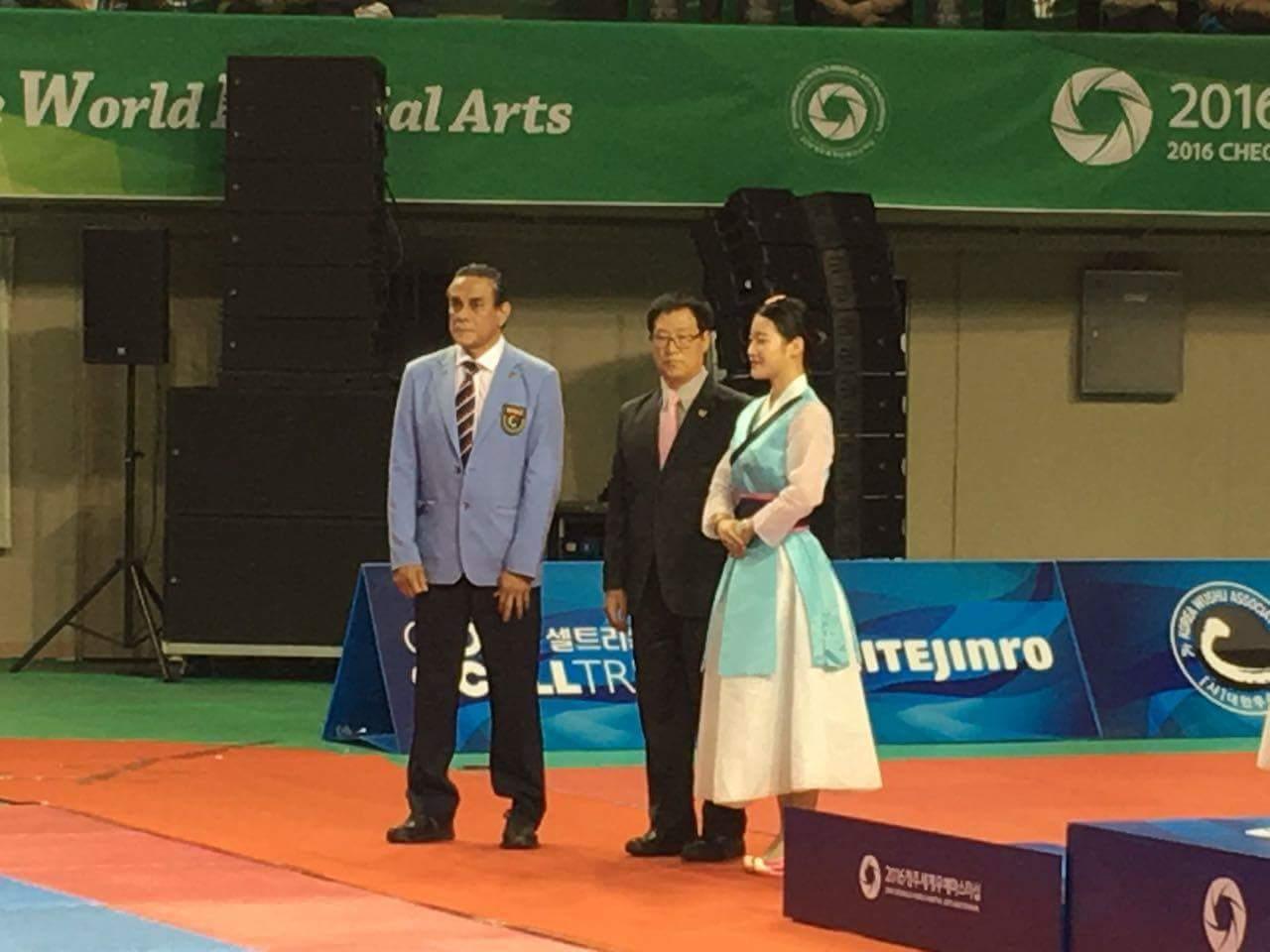 Brizuela forma parte de la directiva de la International Taekwondo Union